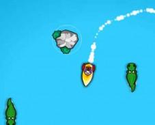 Игра На лодке от крокодилов онлайн