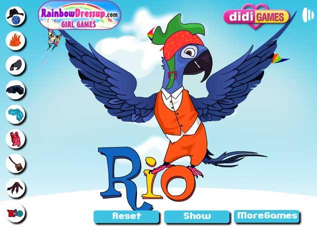 Игра Одень героев Рио онлайн
