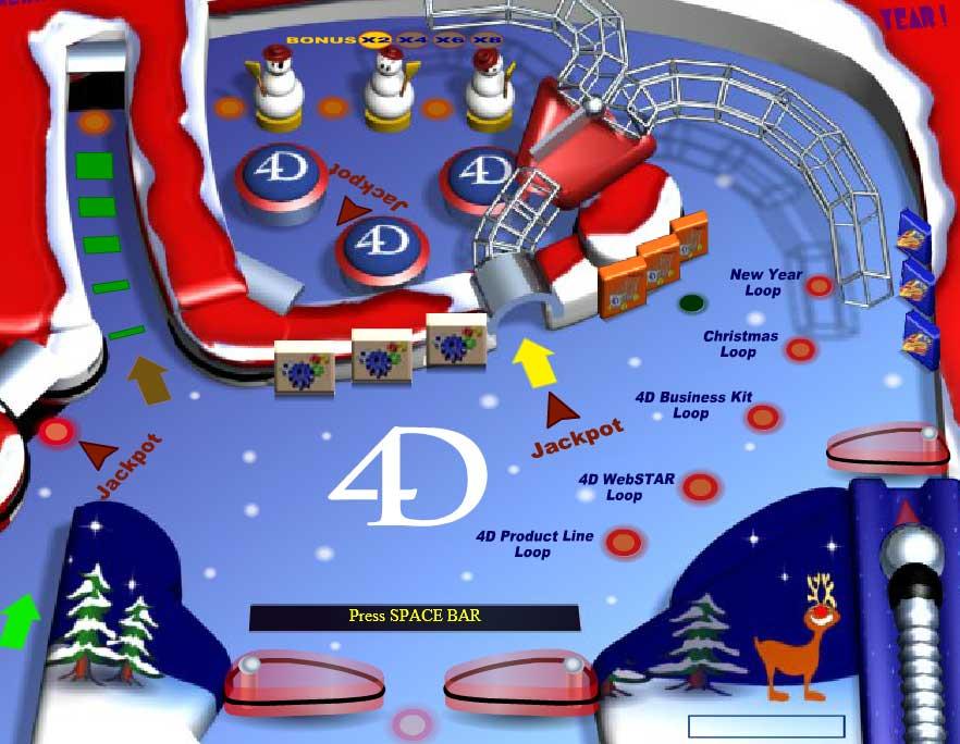 Игра Пинбол 4D онлайн