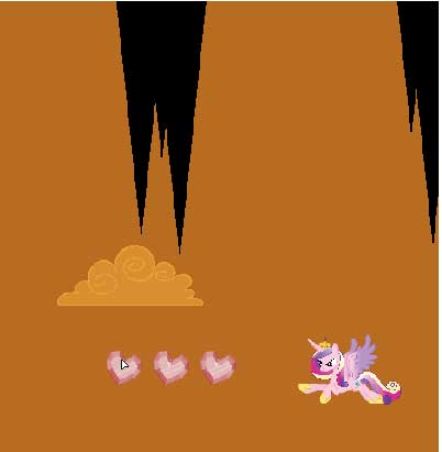 Игра Полет кристальной принцессы Каденс онлайн