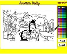 Игра Раскраска Американский папаша онлайн