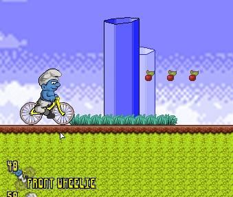 Игра Смурфик на велосипеде онлайн