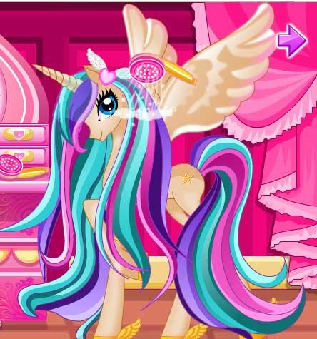 Игра Уход за волосами с принцессой пони онлайн