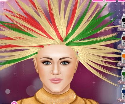 Игра Ханна Монтана в парикмахерской онлайн