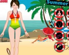 Игра Ханна Монтана на пляже онлайн