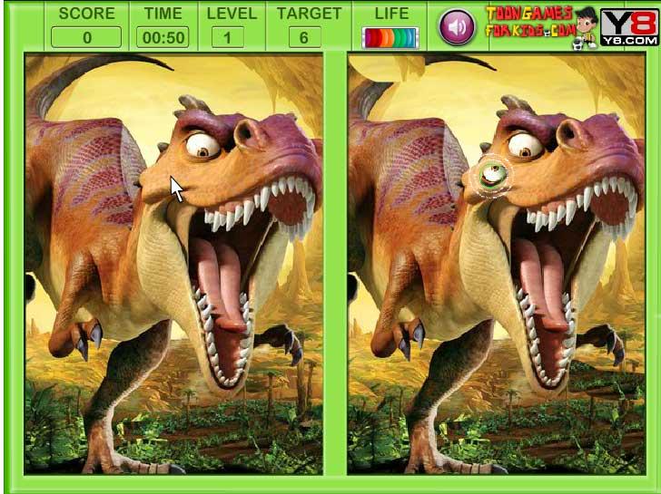 Игра Эра Динозавров отличия онлайн