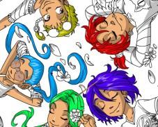 Игра Чародейки раскраска для детей онлайн