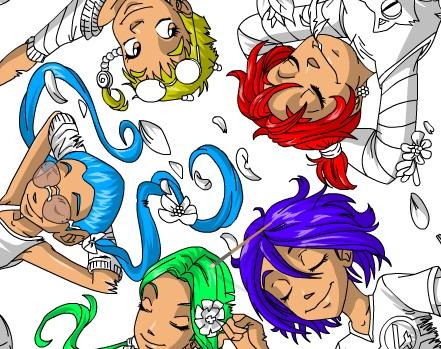 игра чародейки раскраска для детей играй онлайн