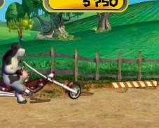 Игра Корова на мотоцикле онлайн