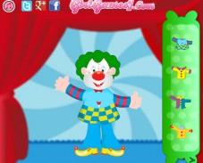 Игра Переодевание в клоуна онлайн