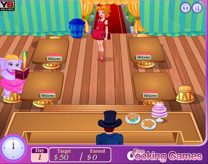 Игра Ресторан в цирке онлайн