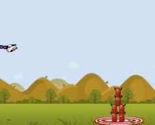 Игра Супер корова прыгает на врагов онлайн