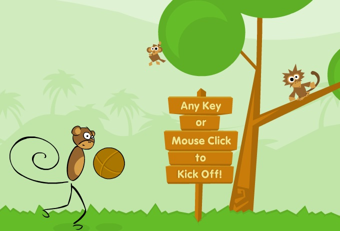 Игра Monkey Kick Off онлайн
