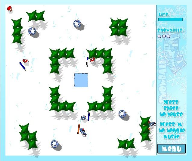 Игра Snowball Fight онлайн