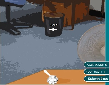 Игра Throw Paper онлайн