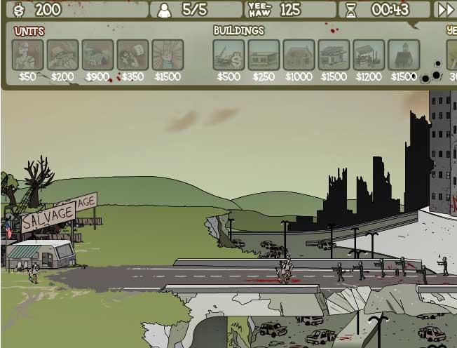 Игра Zombie Trailer Park онлайн