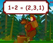 Игра Арифметика Маша и медведи онлайн