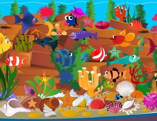 Игра Объекты из аквариума онлайн