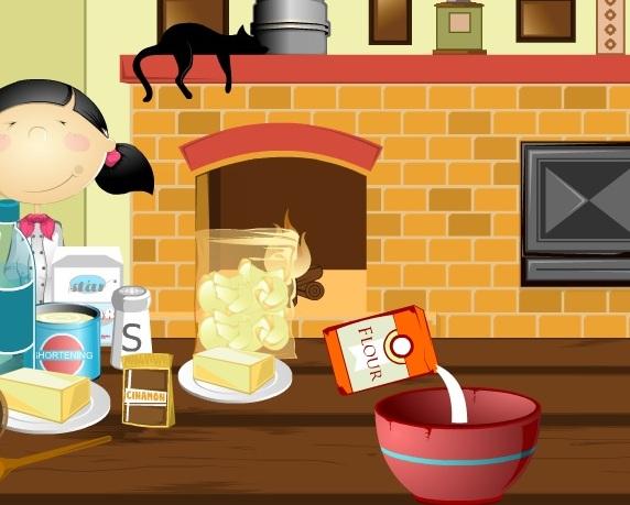Игра Эмма готовит яблочный пирог онлайн