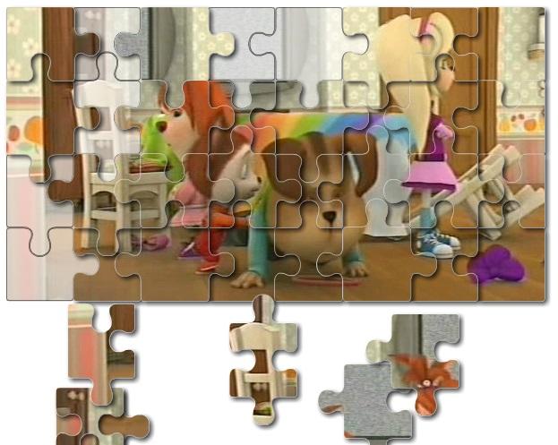 Игра Барбоскины: разноцветный пазл онлайн