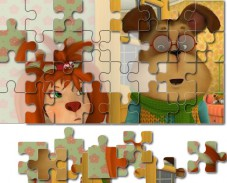 Игра Барбоскины: пазл Лиза и Гена онлайн