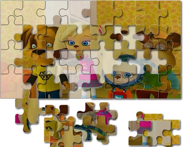 Игра Барбоскины: пазл для всех онлайн