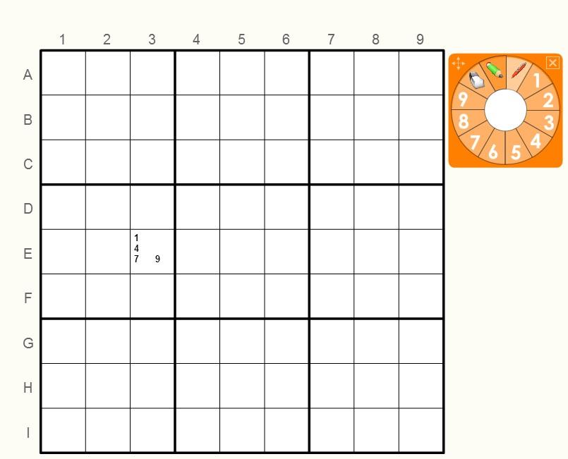 Игра Судоку простое 2 онлайн
