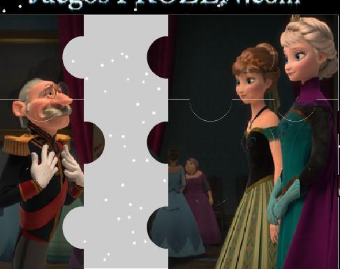 Игра Холодное сердце: пазл Герцог, Анна и Эльза онлайн