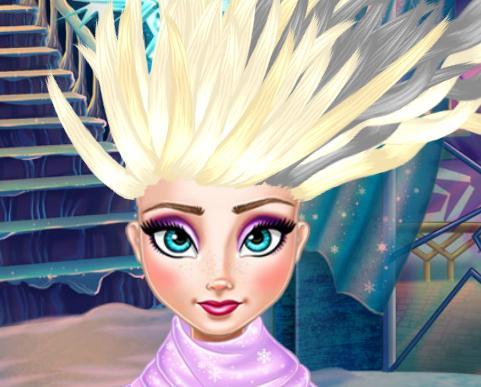 Игра Холодное сердце: прическа для Эльзы онлайн
