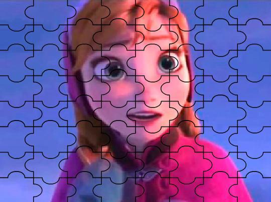 Игра Холодное сердце: удивленная Анна пазл онлайн
