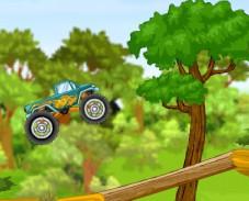 Игра Грузовик монстр против леса онлайн