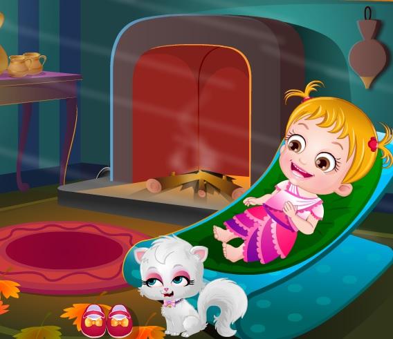 Игра Малышка Хейзел День Благодарения онлайн
