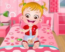 Игра Малышка Хейзел: забота о желудке онлайн