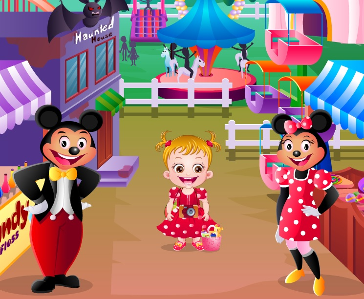 Игра Малышка Хейзел в Диснейленде онлайн