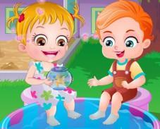 Игра Малышка Хейзел и золотая рыбка онлайн