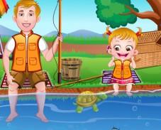Игра Малышка Хейзел на рыбалке онлайн