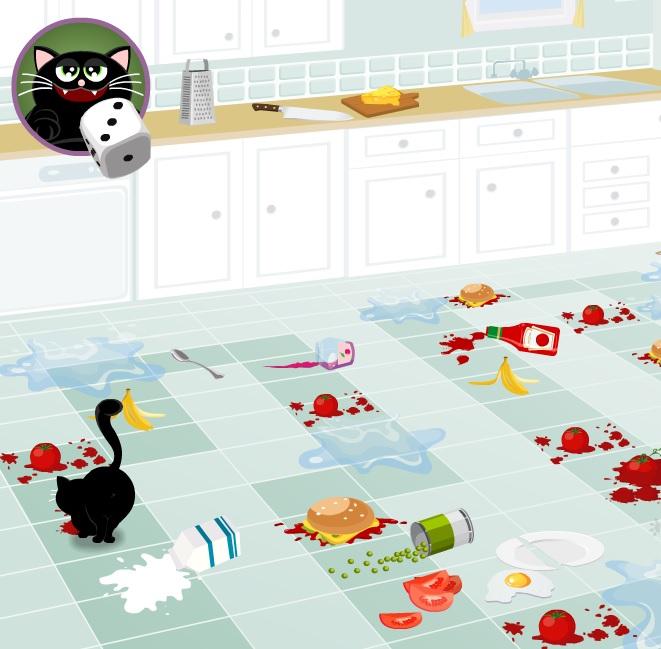 Игра Пушок на кухне онлайн