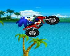 Игра Соник на мотоцикле онлайн