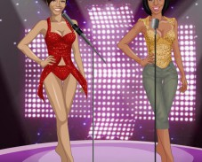 Игра Одевалка Beyonce vs Rihanna онлайн