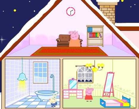 Игра Дом свинки Пеппы онлайн