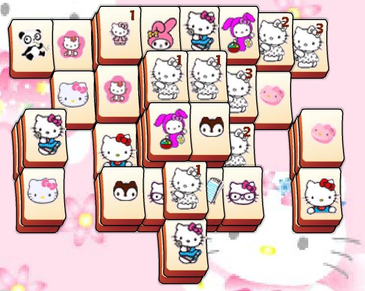 Игра Маджонг Hello Kitty онлайн