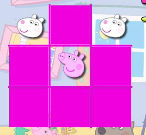 Игра Свинка Пеппа Крестики-нолики онлайн