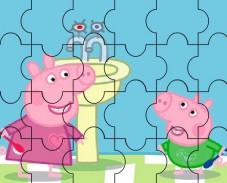 Игра Свинка Пеппа: белоснежная улыбка пазл онлайн