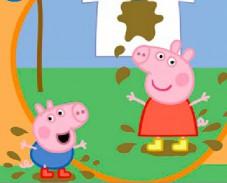 Игра Свинка Пеппа грязное белье онлайн