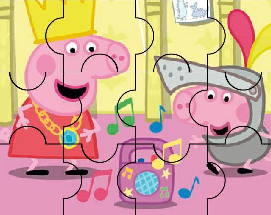 Игра Свинка Пеппа: дискотека пазл онлайн