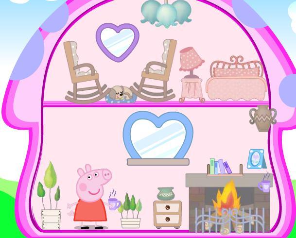 Игра Свинка Пеппа кукольный дом онлайн