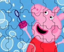 Игра Свинка Пеппа мыльные пузыри пазл онлайн