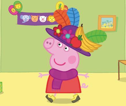 Игра Свинка Пеппа одевалка онлайн