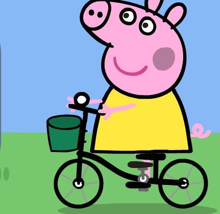 Игра Свинка Пеппа раскраска - играй онлайн