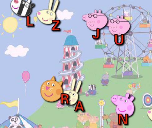 Игра Свинка Пеппа собирает буквы онлайн